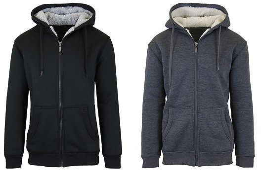 Today Only! Sherpa Lined Fleece Heavy Weight Hoodies 2-Pack