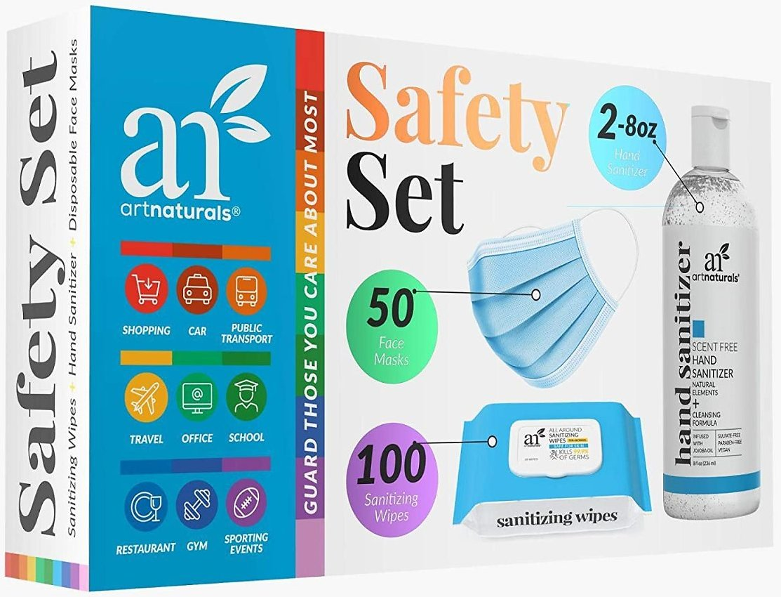 Artnaturals Safety Set - Personal Protection Kit - All Purpose Sanitizing Cleansing
