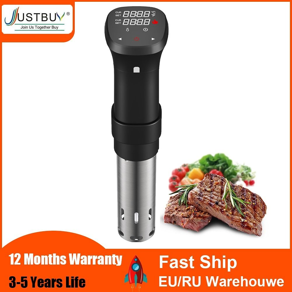 1800W LCD Vacuum Food Sous Vide Cooker Cooking Machine Sturdy Immersion Circulator Digital Timer Slow Cooker