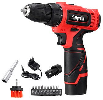 Mensela ED-LS1 12V MAX Cordless Drill Driver Double Speed Power Drills With LED Lighting 1/2Pcs 1.5Ah BatteryPower ToolsfromToolson Banggood.com