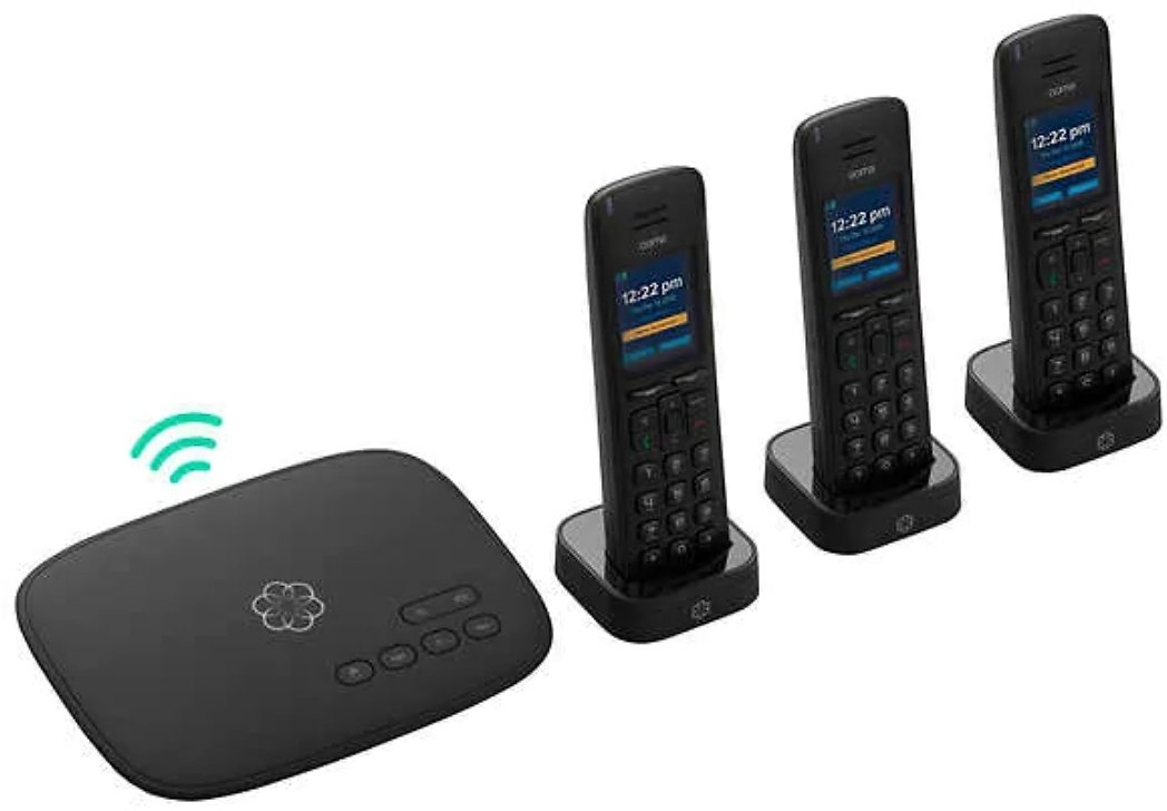 Ooma Telo Air 2 with HD3 Handset Home Phone Service