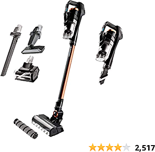 BISSELL, 2746A ICONpet Pro Cordless Stick Vacuum Cleaner, Titanium and Black with Copper Harbor and Pearl White Accents