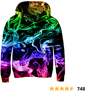 UNICOMIDEA Unisex Hoodies for Kids 3D Prints Sweatshirts Pullover with Pocket for 3-15 Years