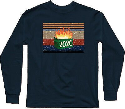 Dumpster Fire 2020 Funny Trash Can Garbage Fire Worst Year Men's T-Shirtr