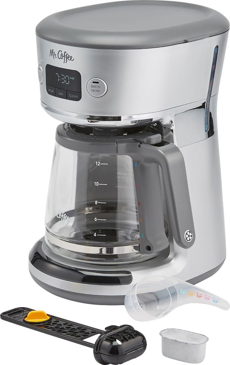 Mr. Coffee Easy Measure 12-Cup Coffee Maker Silver 31160693