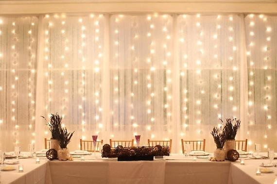 LED Window Curtain Lights- Warm White Energy Efficient Fairy Twinkle Lights- 300 Lights- Waterproof- Wedding Decor
