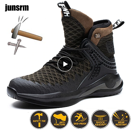 Winter Safety Boots Are Light and Comfortable, Steel Toe Cap, Anti-piercing Industrial Outdoor Work Shoes, Foot Protection