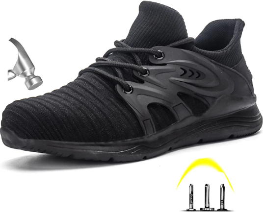 60% OFF Men's Steel Toe Anti Smashing Safety Protective Shoes