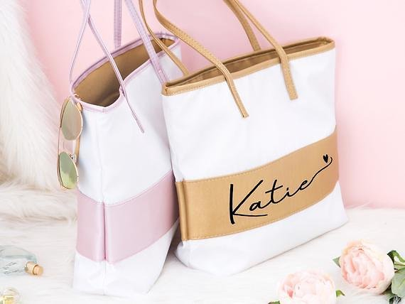 Custom Tote Personalized Bag Bridesmaid Gift For Her Women Shopping Bag