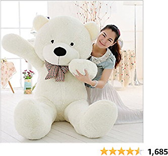 MorisMos White Giant Teddy Bear Cute Soft Toys Teddy Bear for Girlfriend Kids Teddy Bear