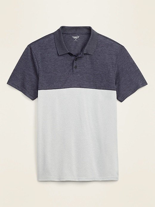 Today Only! Go-Dry Cool Odor-Control Core Color-Blocked Polo for Men