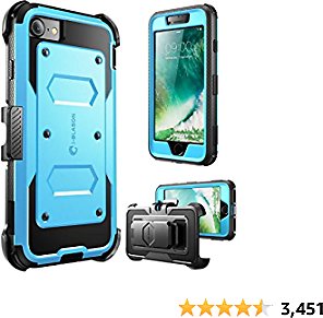 I-Blason Armorbox Case Designed for IPhone SE2 2020 /iPhone 7/iPhone 8, Full-Body Rugged Holster Protective Case with Built-in Screen Protector, Blue