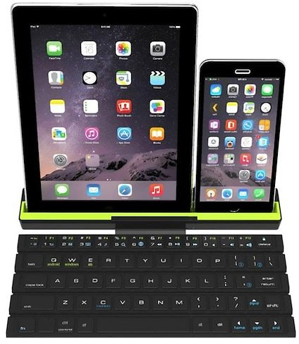Wireless Bluetooth Scroll Keyboard for Mobile Phone / Tablet