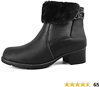 Women's Winter Boots | Leather | Fur Lined | Side Zipper - Paris