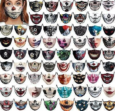 2020 Women Mens 3d Funny Mouth Mark Cover Facemask Washable Hip Hop Party Magic