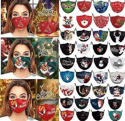 Washable Facemask Half Face Christmas Mouth Mark HipHop Cospaly Party One Size A