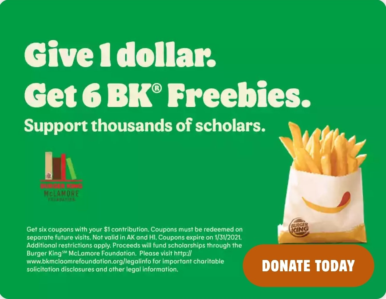 Give $1 & Get $6 Freebies Booklet