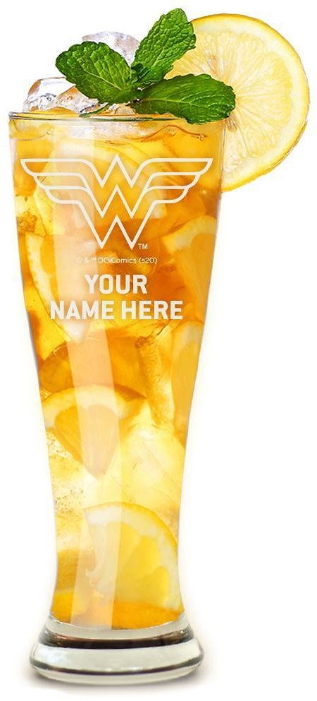 Wonder Woman Personalized Tapered Glass, 16 Ounces