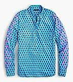 Classic Popover Shirt in Layered Block Print