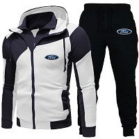 Ford Hoodie Set Fashion Double Zipper Hoodie Mens Tracksuit Sports Wear Pullover Sweatershirt Suits/Sets Hoodies+Pants | Wish