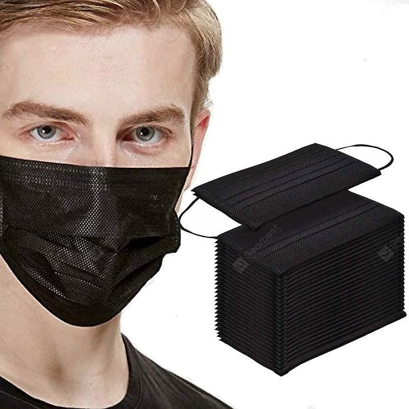 50/100Pcs Mouth Mask Disposable Black Mouth Face Masks Mask Earloop Mask Holder Sale, Price & Reviews   Gearbest
