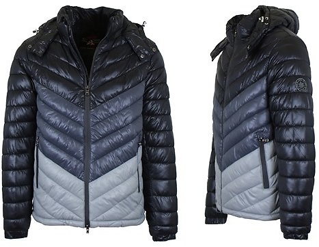 Men's Heavyweight Quilted Hooded Puffer Bubble Jacket