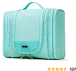 Premium Hanging Travel Toiletry Bag for Men and Women - XL Capacity Bathroom and Shower Organizer Kit - Waterproof Hygiene Bag with Sturdy Hook for Toiletries, Makeup, Shampoo, Cosmetic, Personal Item