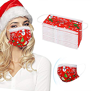 Christmas Face Masks Disposable for Women