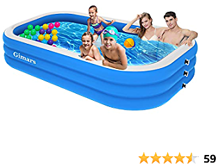 50% Off 120x72x22 Inch Inflatable Swimming Pool for 2 Adults +4 Kids