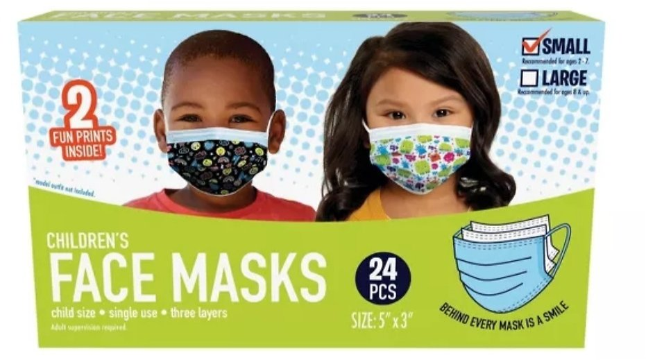 Just Play Kid's Face Mask - S - 24pc