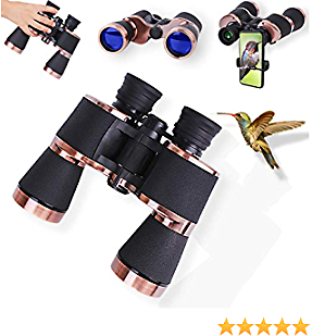 20x50 Binoculars for Adults with Phone Clip,Professional Mg-Al Alloy Frame,BAK4 Prism FMC Lens,64% Discount! !