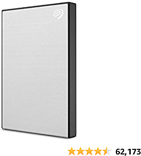 Seagate Backup Plus Slim 1TB External Hard Drive Portable HDD – Silver USB 3.0 For PC Laptop And Mac, 1 Year Mylio Create, 2 Months Adobe CC Photography (STHN1000401)
