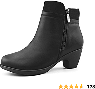 Women's Winter Boots | Premium Leather | Soft Fur Lined | Full Side Zipper | Dressy Ankle Booties - Office