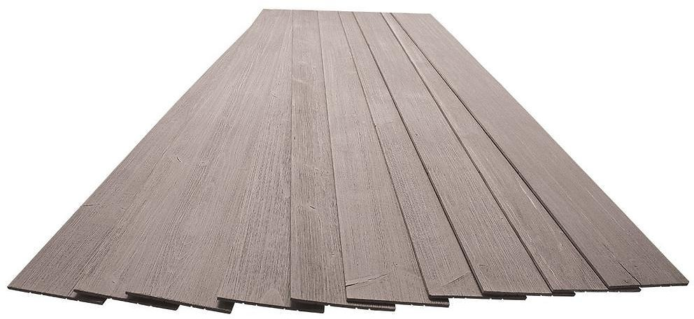 American Pro Decor 3/16 In. X 5-1/8 In. X 46-1/2 In. Driftwood Grey Rustic Pine Wood Plank Self-Adhesive (10-Pack)-5APD10943