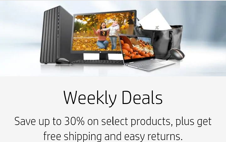 HP Up to 30% Off Holiday Gift Guide