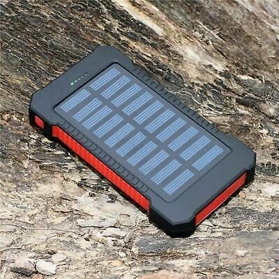 2000000mAh Dual USB Portable Solar Battery Charger Solar Power Bank For Phone US