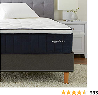 AmazonBasics Signature Hybrid Eurotop Mattress - Medium Feel - Energex Foam for Deeper Support - Cool to Touch Top Fabric - CertiPUR-US Certified - 13.5-inch, Full