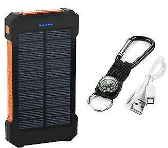 Waterproof Power Bank 2000000mAh Portable Solar Battery Charger Mobile Charger