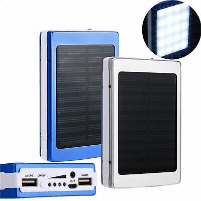 2020 NEW 2000000mAh Waterproof Solar Power Bank Battery Charger for Phone Pack