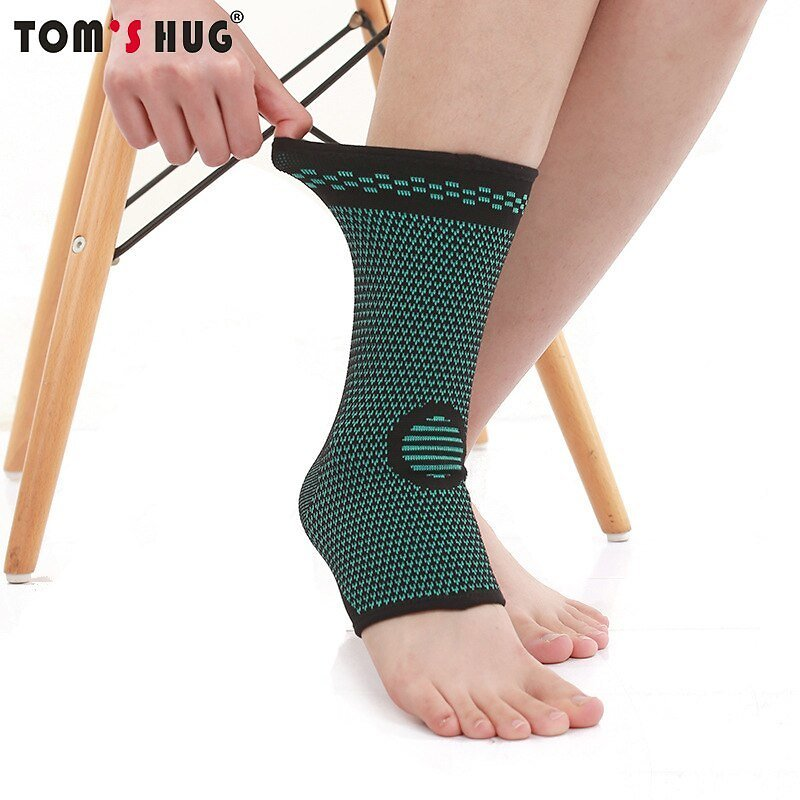 Tom's Hug Movement Knitted Sports Ankle Brace Summer Breathable Ankle Support Basketball Badminton Mountaineering Guard