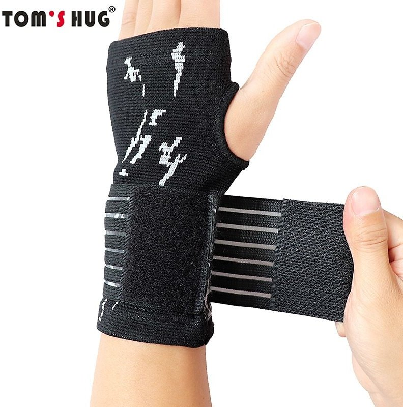 1 Pcs Pressurizable Bandage Palm Protect Wrist Brace Wristband Tom's Hug Professional Sports Wristbands Wrist Support Black