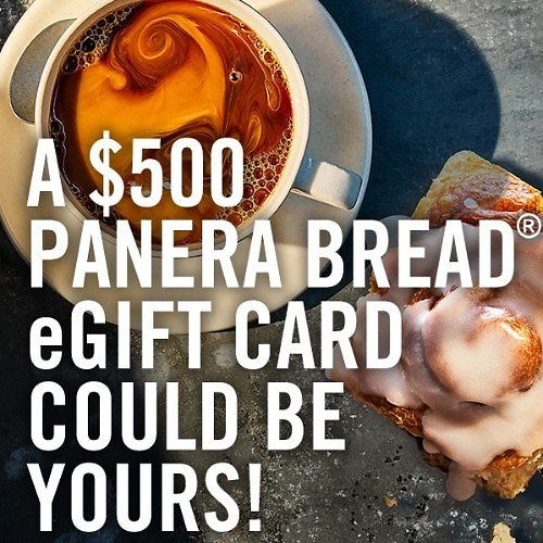 Move Fast to Get a $500 Panera Bread EGift Card Offer! (MyPanera Members)