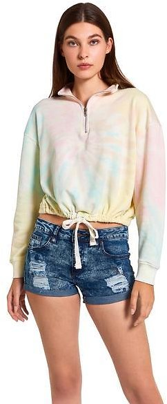 TIE-DYE CROPPED SWEATSHIRT RAINBOW MULTI