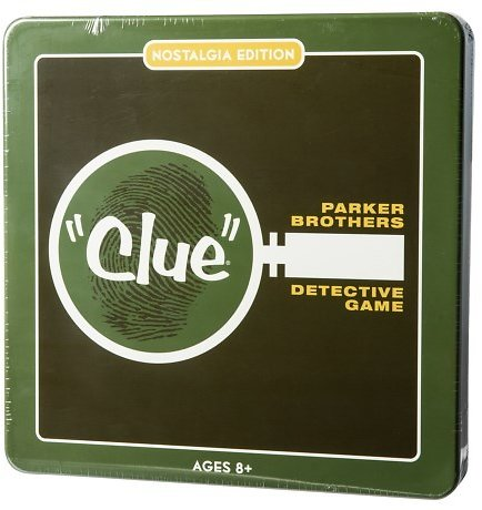 Winning Solutions CLUE Detective Board Game - Nostalgia Edition Tin