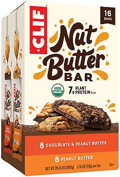 Clif Nut Butter Filled Snack Bars, Variety Pack, 1.76 Oz, 16-count