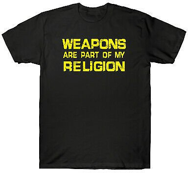 Weapons Are Part Of My Religion Funny Gift Tee Men's Cotton Short Sleeve T-Shirt