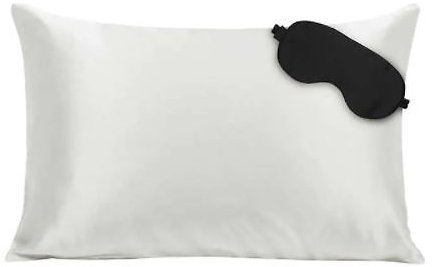 NIGHT 100% Silk Pillowcase and Eye Mask Set