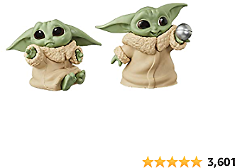 "Star Wars The Bounty Collection The Child Collectible Toys 2.2-Inch The Mandalorian ""Baby Yoda"" Don't Leave, Ball Toy Figure 2-Pack"
