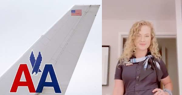 Furloughed American Airlines Flight Attendant Delivers Emotional Sendoff On Final Trip: 'Thank You for The Smiles'