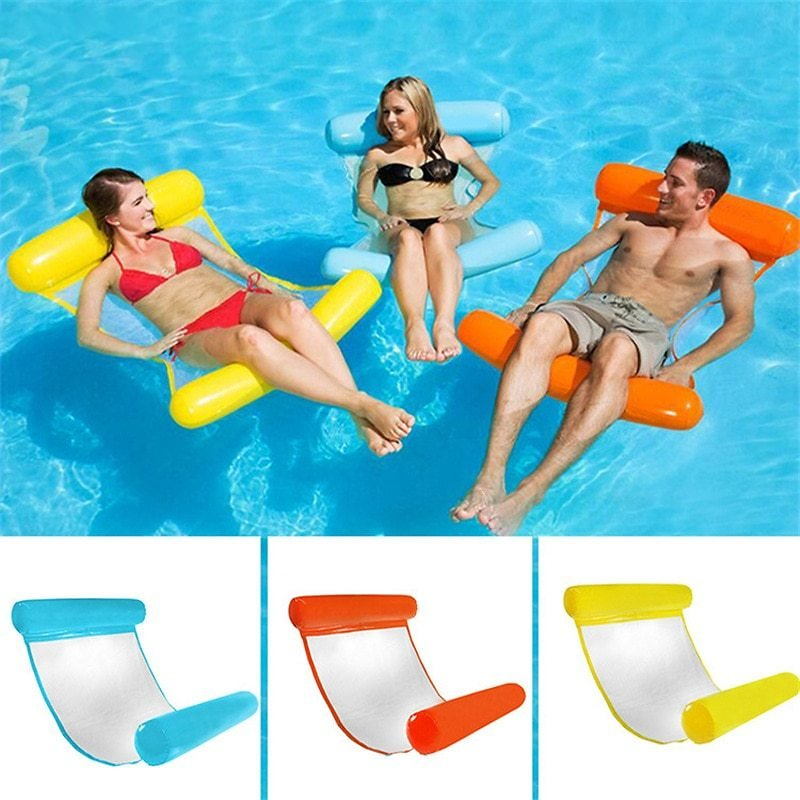 US $10.88 51% OFF|Water Hammock Recliner Inflatable Floating Swimming Mattress Sea Swimming Ring Pool Party Toy Lounge Bed for Swimming|Swimming Rings| - AliExpress